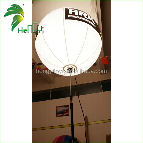 High Quality Manufacture LED Glowing Illumination Tripod Balloon , Inflatable Standing Tripus LED Balloon