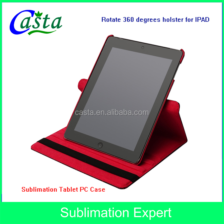 Universal 360 degree rotating screen Printing holster Protective sleeve Sublimation Tablet Case For IPAD