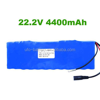 Shenzhen Factory lithium ion battery 22.2v 4400mAh li-ion battery pack
