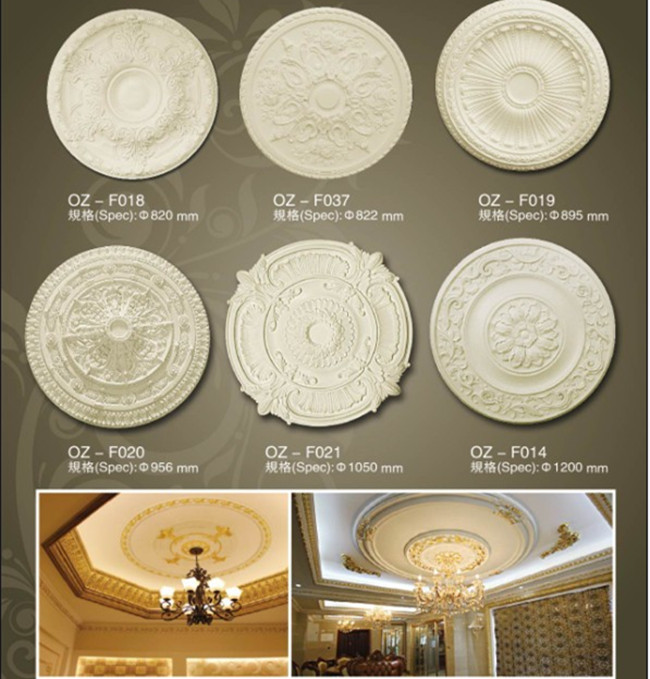 PU ceiling medallion tile,carved ceiling medallion