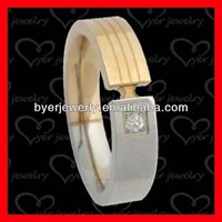 tungsten titanium alloy ring with popular styles and good quality