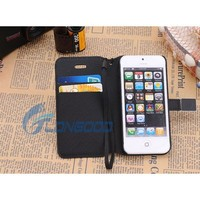 Wallet Card Holder Flip Leather Phone Case for iPhone 5 5G