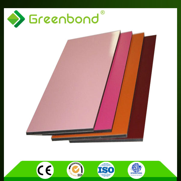 Greenbond hot sale 2-6mm PVDF coated outdoor decorative acm sheets