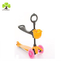 New design high quality 3 in 1 kids 3 wheels foot scooter baby mini scoote wholesale scooter with basket for kids from china