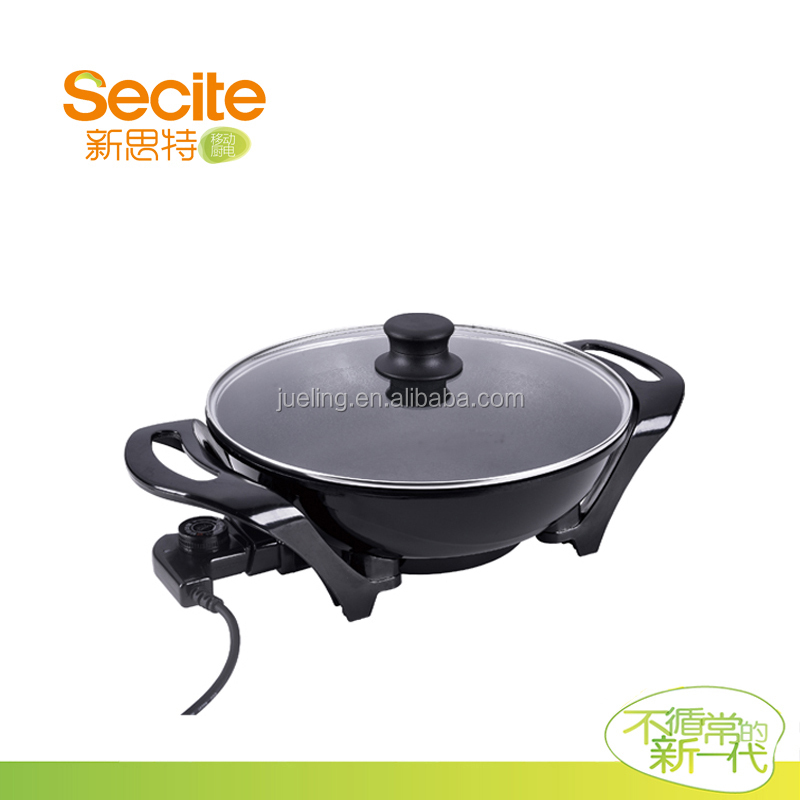 Best Selling Products Ceramic Frying Pans with Golden Ingot Shape
