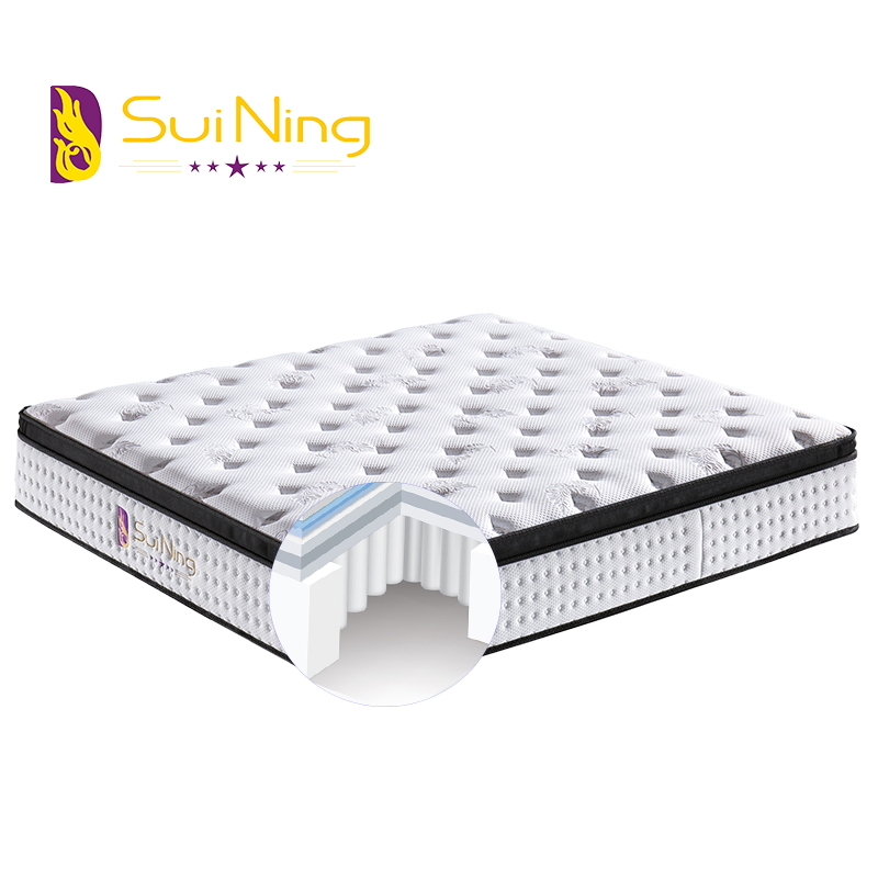 Custom Size Soft 3-zone Pocket Spring Comfort Mattress with High Grade Quilting A1053