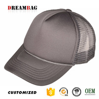 Trucker hat style Guangzhou outdoor activities high quality custom solid color plain design wholesale caps