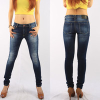 OEM/Wholesale HIGH-END 98% cotton 2% elastane slim fit blue women jeans latest jeans tops girls