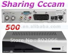 20122011 free shipping satellite receiver 500S satellite receiver 500s receiver cccam sharing card sharing linux