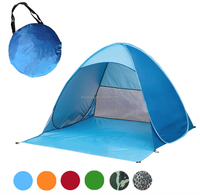 Free Outdoor Automatic Pop up Instant Portable Cabana Beach Tent 2-3 Person Camping Fishing Hiking Beach Tent
