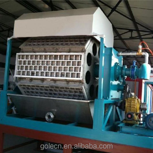 Eco-friendly molded recycled waste paper pulp egg tray machine factory price