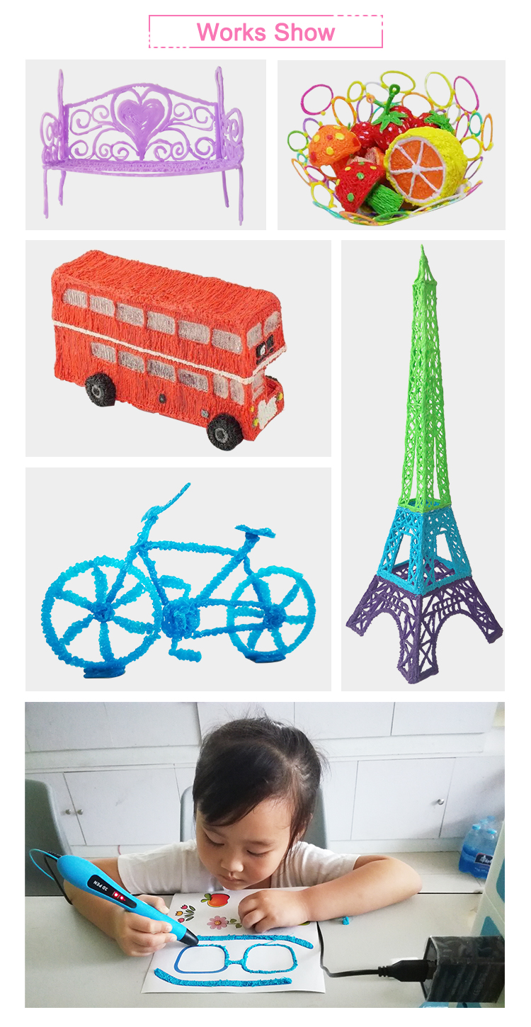low temperature Christmas gifs kids 3d pen drawing with PCL filament refills 3D pen