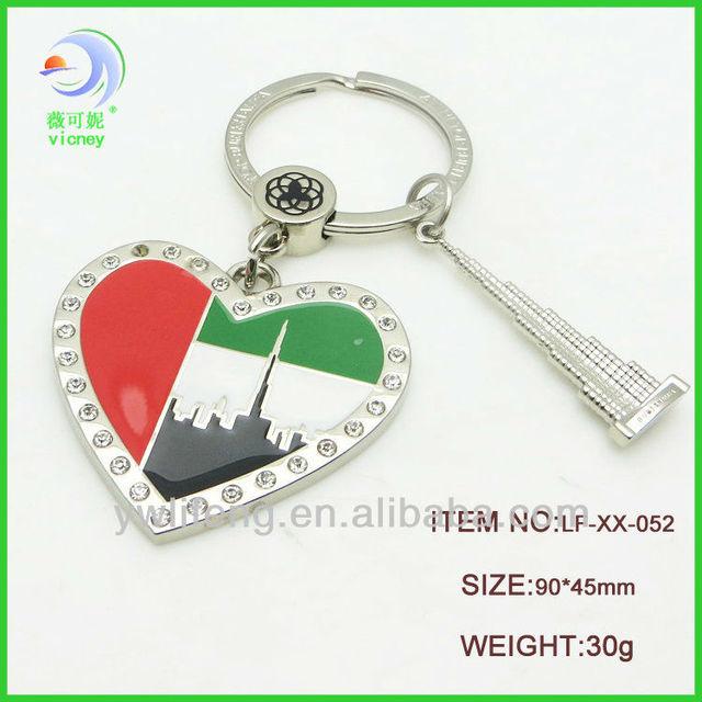 Custom Dubai Souvenirs High Quality Dubai Souvenir Tower Keychain