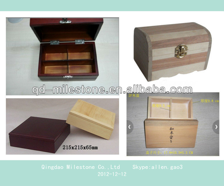 New design and hot sell pine wooden box for Tea, Craft, Jewelry, Exhibition , wine, beverage