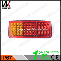 WEIKEN Scania Bus Price Wholesale High Efficient 12/24V LED Truck Tail Light LED Rear Light For Heavy Duty Truck
