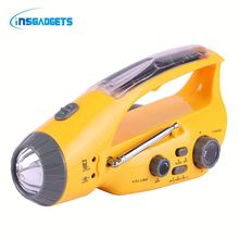 amazon best selling solar and hand crank lamp SKdh0t solar power hand crank charger rechargeable flashlight