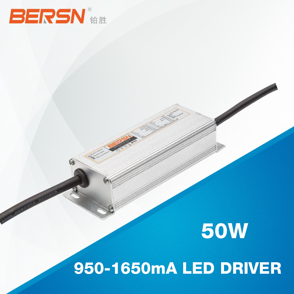 single output type 50w constant current 1050ma led driver