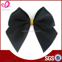 Handmade gift polyester satin ribbon bow , elastic ribbon bow for decorations