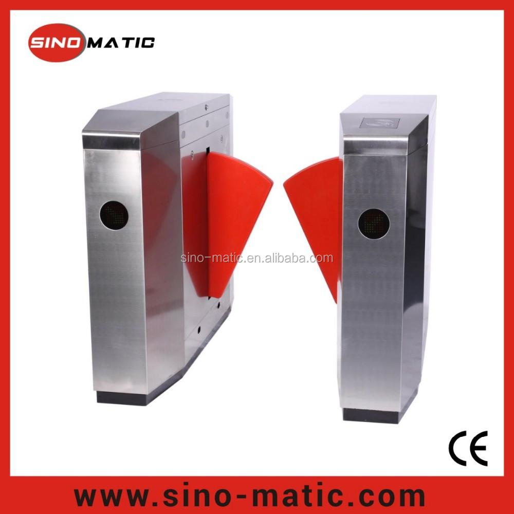 Automatic Card Reader ~ Rfid card reader automatic pu foam flap barrier speed gate