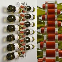 Clear 12 bottle wine rack acrylic wall mounted wine rack