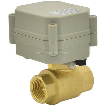 DN15 1/2'' inch 2-way motorized electric brass ball valve for water control