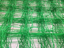 Green pe knotted net with best price mesh net pe mesh 180g/m2