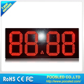 Outdoor 18'' red color 88.88 single sided led gas price sign
