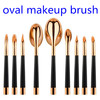 Best Seller Toothbrush Shaped Oval Brush Set Rose Gold, Foundation Makeup Brushes Beauty Tool