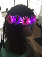 Led Flower light for las vegas people Festival party happy new year flower crown