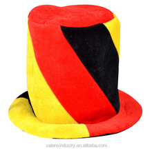 OEM wholesale Fashion Crazy Funny Event & Party Supply Football Fans top Hat Wholesale Hats