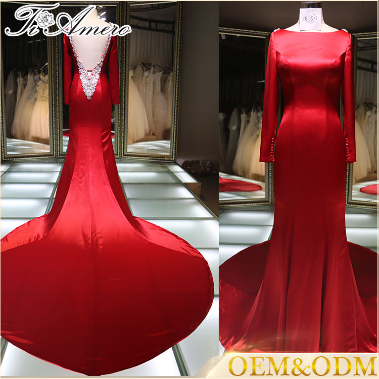 Hollywood Style Fashion Ladies Western Wear Evening Dresses
