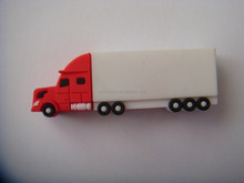 4GB Truck shaped usb 8gb pvc memory stick, Customized Van Truck pen drive