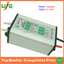 12v 24v input 10w 900ma constant current waterproof led driver for outdoor led light power supply