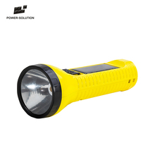 Wholesale waterproof portable solar led torch flashlight charged by solar & mirco USB