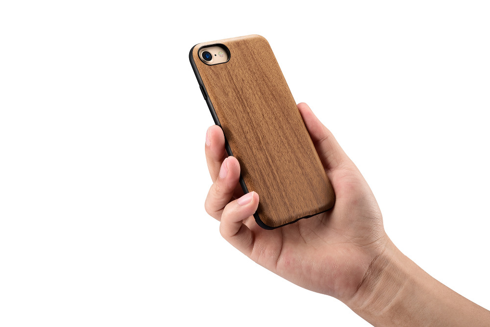 Original Xoomz Wood Series PC+PU Back Case Cover For iPhone 7/7 Plus PX-022