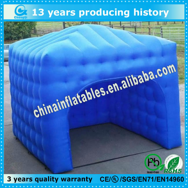 Newest inflatable blue pneumatic tent