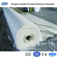 Polypropylene Needle Punched Geo Textiles Pp Staple Fiber For Geobag Geotextile Fabric Lowes