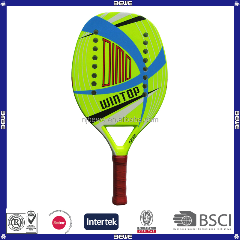 Popular Funny Colorful Design 3K Carbon Beach Tennis Racket