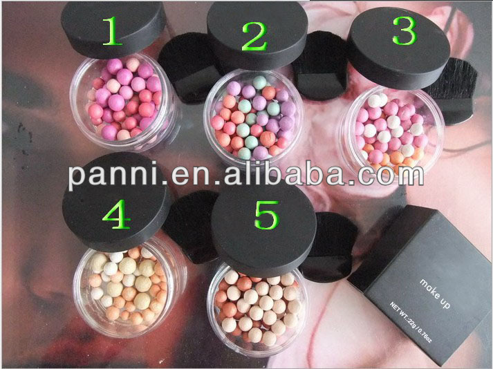professional blusher ball colorful blusher ball