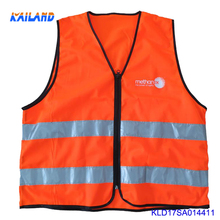 High quality factory wholesale cheap safety reflective vests with zipper Hi-vis safty vest