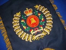Geoffrey | 48th Highlanders of Canada Hand Embroidered GHB Great Highland Bagpipe Banner