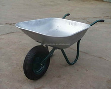 solid wheel aluminum tub hand wheel barrow for agriculture