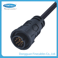 Finecables 9pin waterproof quick lock contacts or straight m16 connector prices