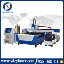 Big discount ! CE chuangya new design rotary axis fiber laser cutting machine 1325 1530