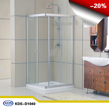Cheap price tempered glass Square design bathroom shower enclosure, shower room, shower cabin with framed KDS-D1040