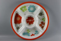 Round Shaped Melamine 4 Section Plate