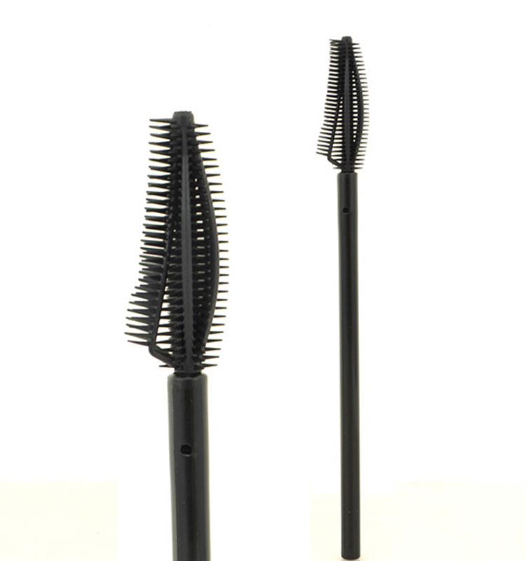 One off mascara applicator wand brush silicone eyelash for Mascara with comb wand