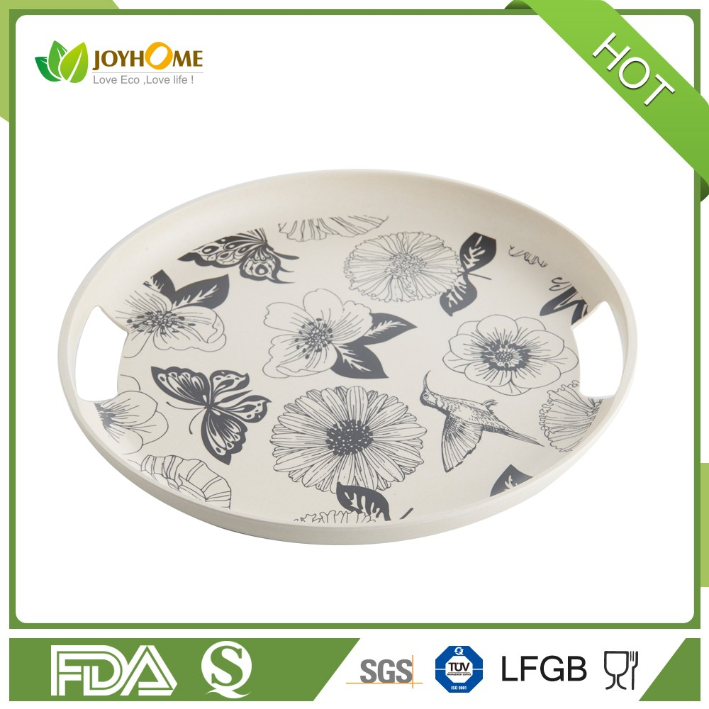 2017 new design bamboo fiber antislip tray