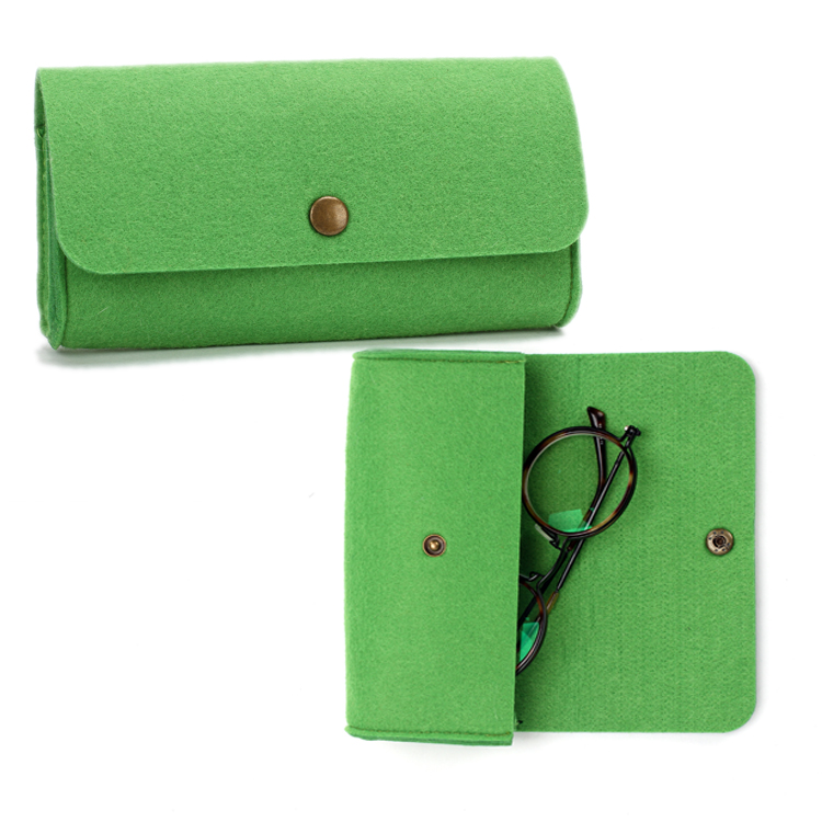 Portable Light Sun Glasses Cover Folding Personalized Cheap Felt Glasses Case