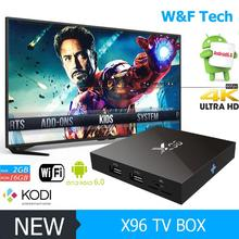 2017 Wholesale 2g ram 8g rom kodi tv box Amlogic S905X TV Box android 6.0 os tv box x96
